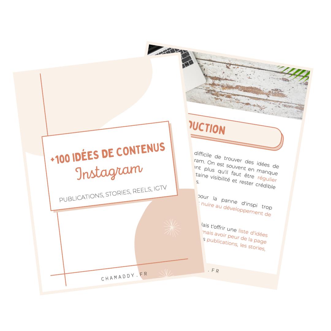 Freebie - 100 idées de contenu pour Instagram
